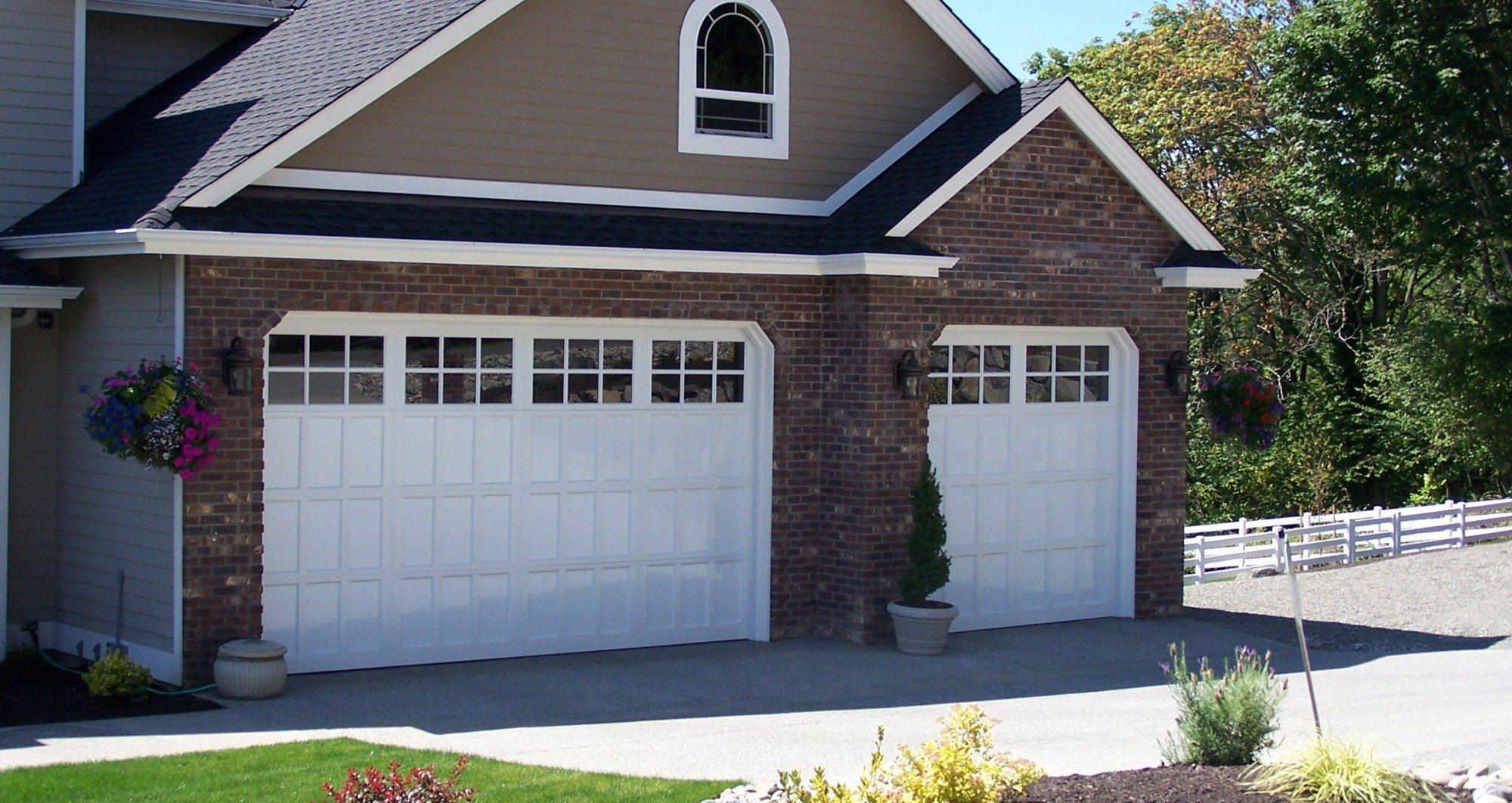 white classic garage doors