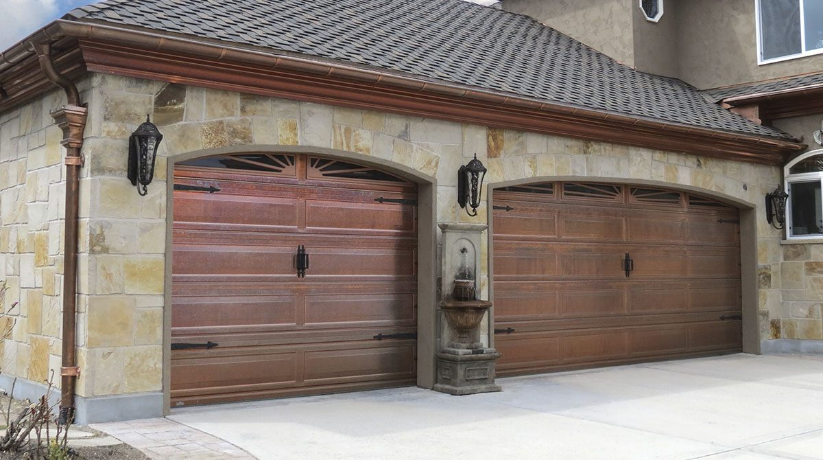 coppy garage door installation on home