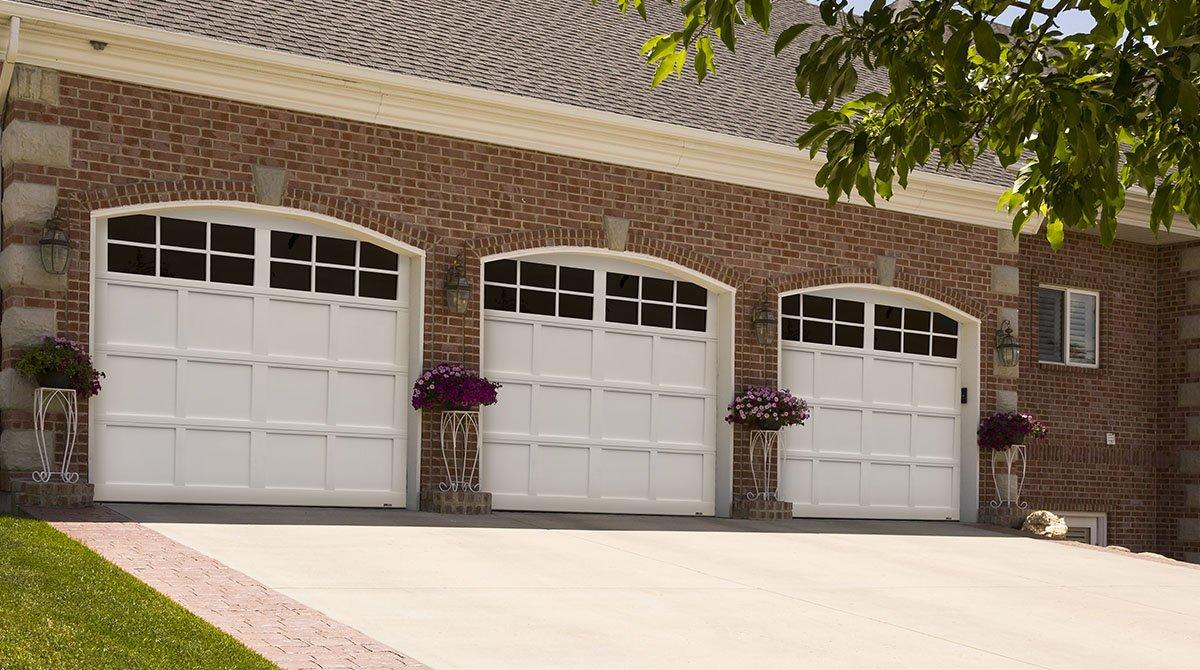 triple garage door installation