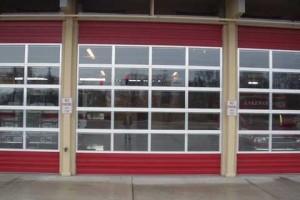 glass garage doors for businesses in Oak Grove