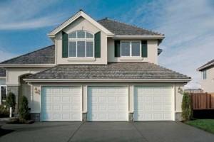 home with new garage doors
