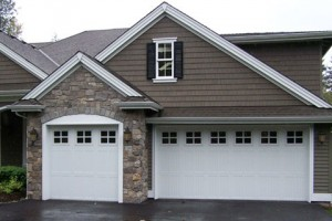 white residential garage door