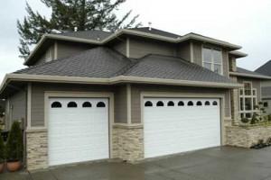 new garage door on home