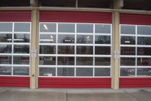 glass garage door for business