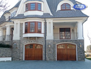 wooden garage door installation